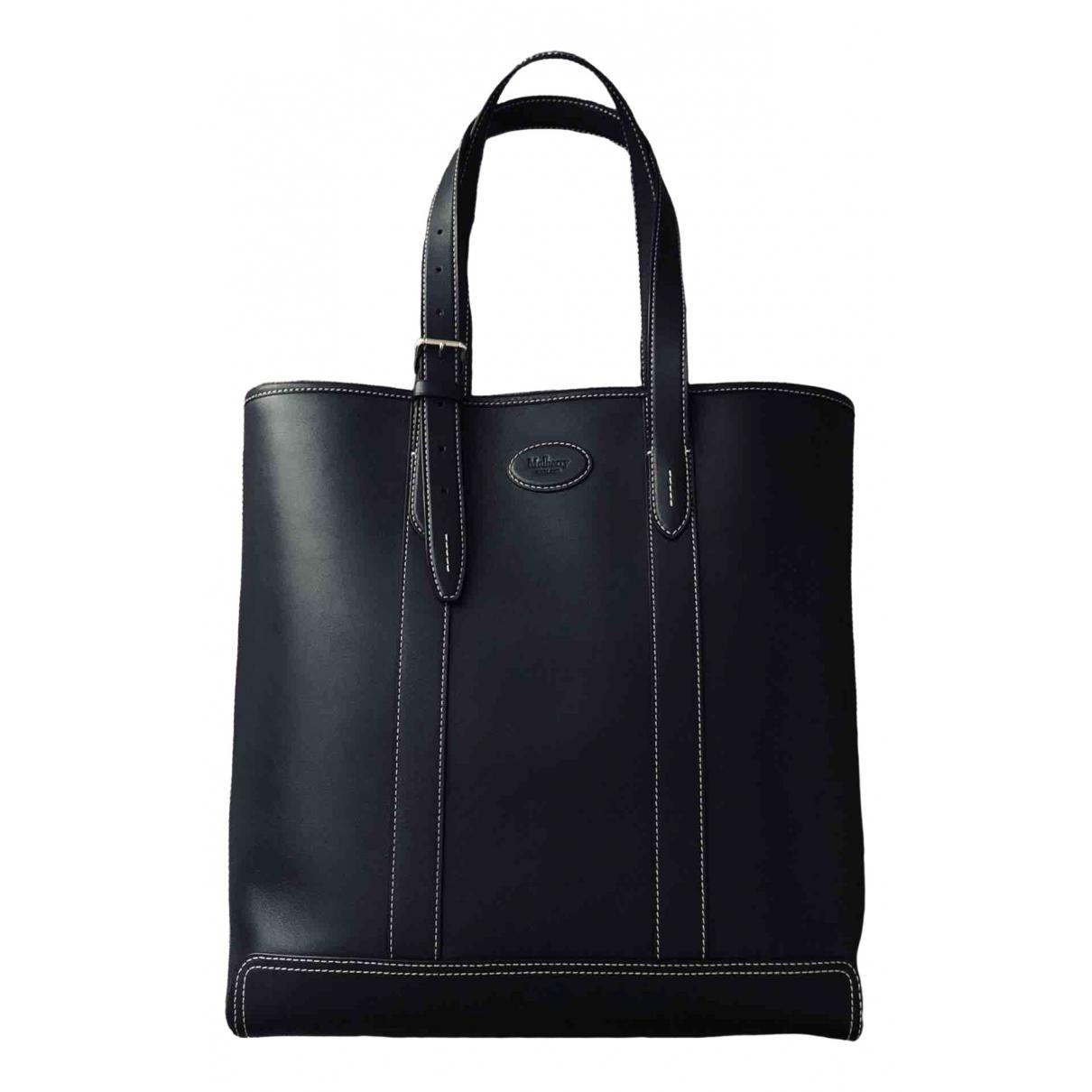 Mulberry \N Navy Leather bag for Men \N