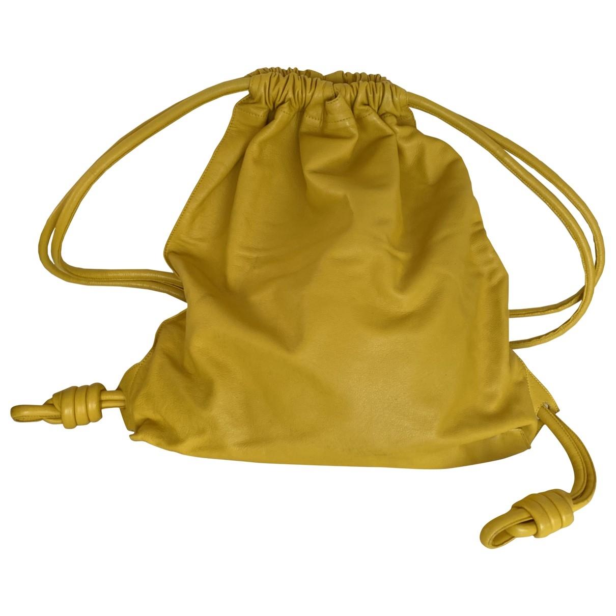 Loewe \N Yellow Leather bag for Men \N