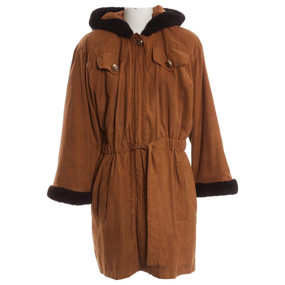 Yves Saint Laurent \N Brown Silk coat for Women 42 FR