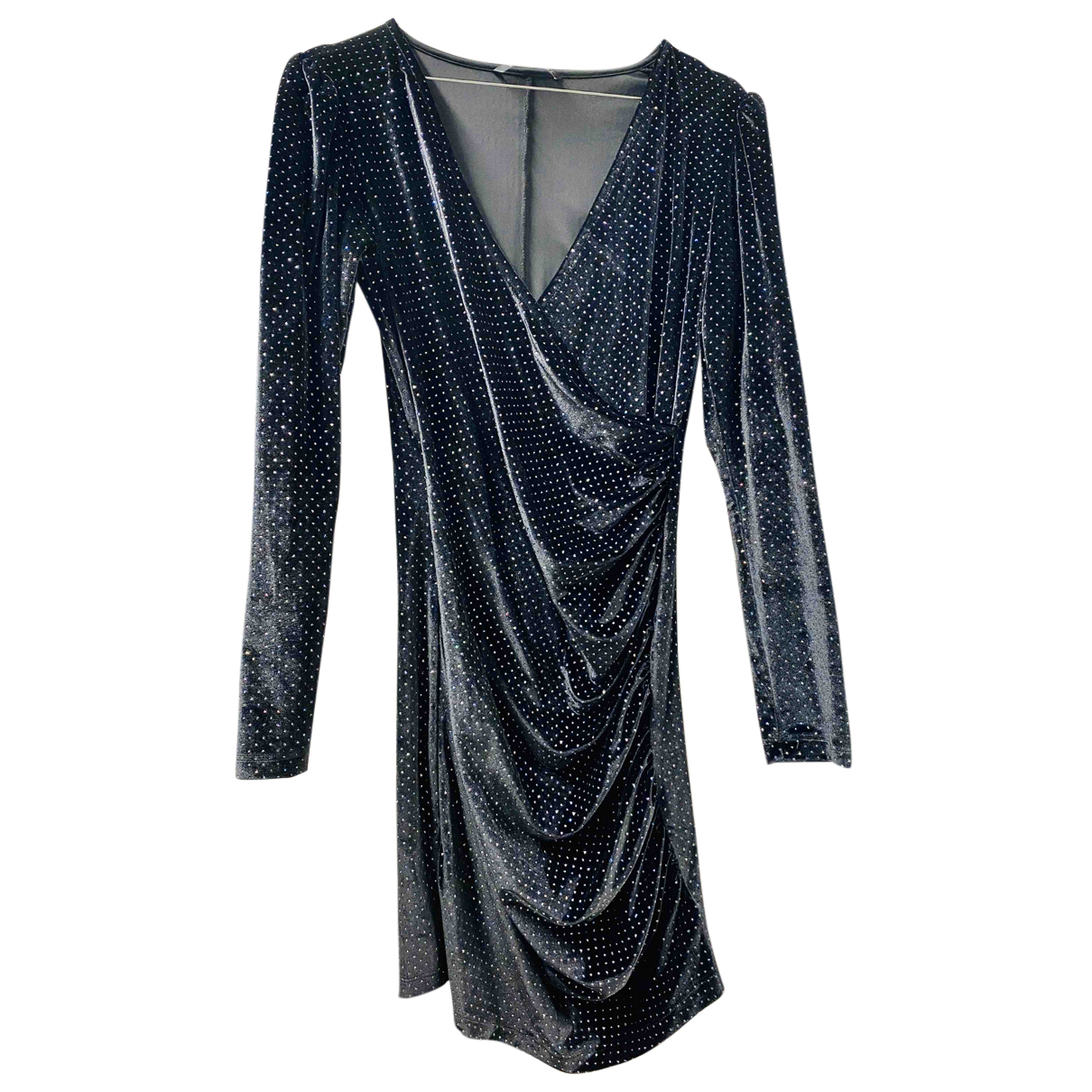 Non Signe / Unsigned \N Kleid in  Marine Polyester