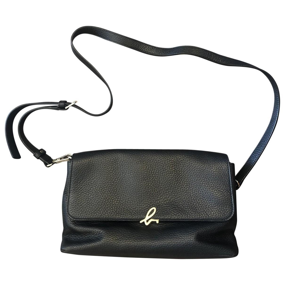Agnès B. \N Black Leather handbag for Women \N