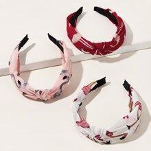 3pcs Girls Flamingos Pattern Headband