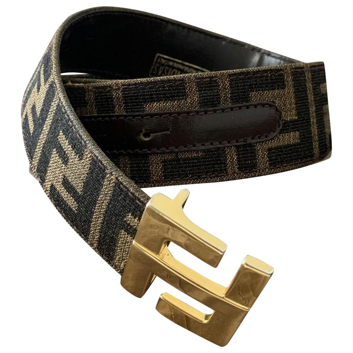 Fendi \N Brown Cloth belt for Women M International