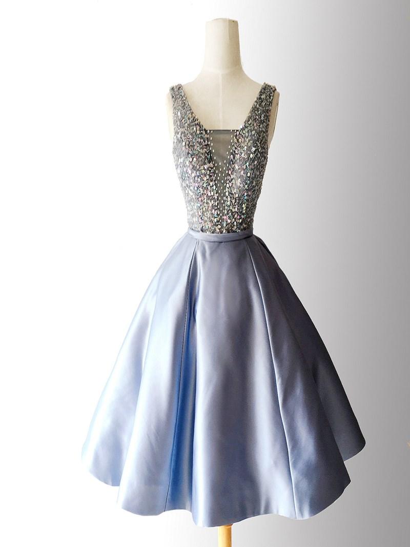 Ericdress Shiny Beaded Sleeveless Short Homecoming Dress