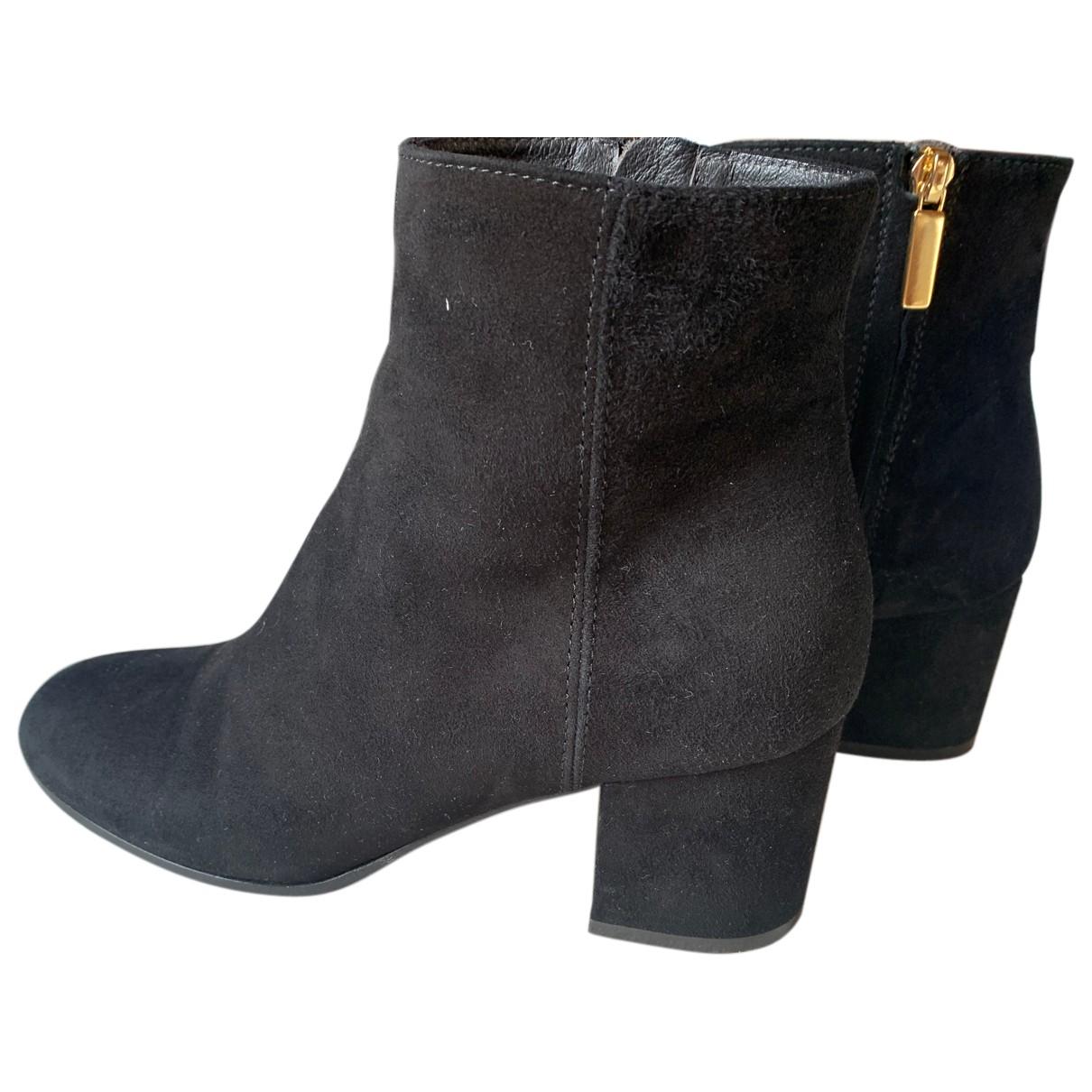 Jucca - Boots   pour femme en suede - noir