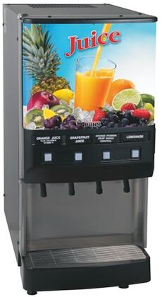 37300.0002 JDF-4S 4 Flavor Cold Beverage System With Push-Button  Portion Control  Quick Dispense  18lbs. Ice Bank  Door Lock Standard  in