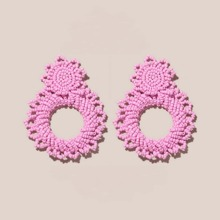 Hollow Out Beaded Drop Earrings