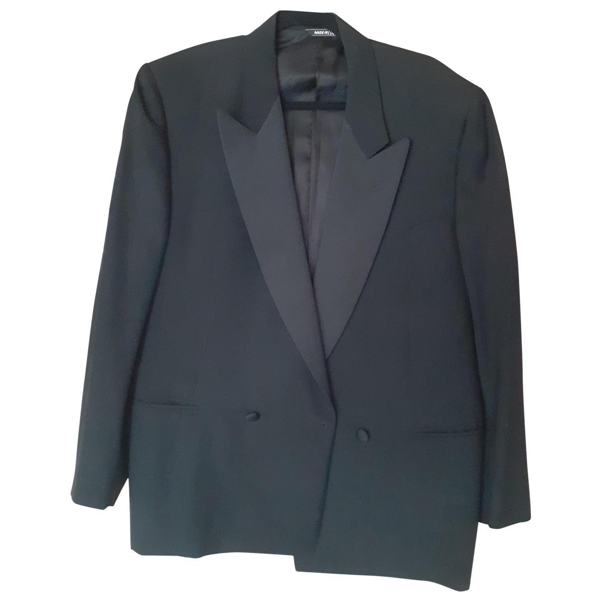 Lanvin \N Black Wool jacket  for Men 56 IT