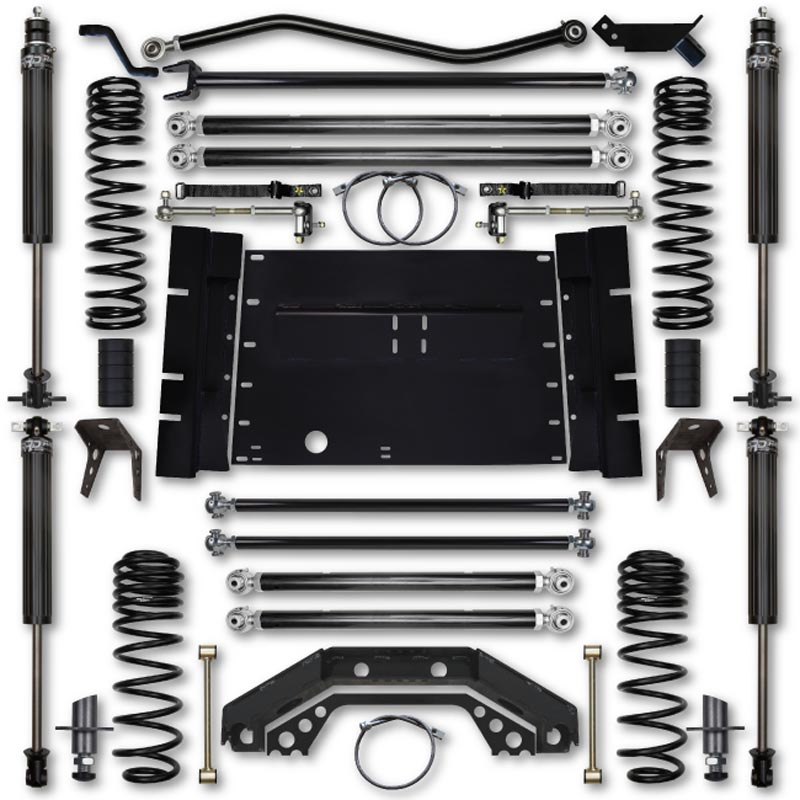 Rock Krawler TJ55XFLA-5S01S1 TJ 5.5 Inch X Factor Long Arm 5 Inch Stretch Lift Kit 03-06 Wrangler