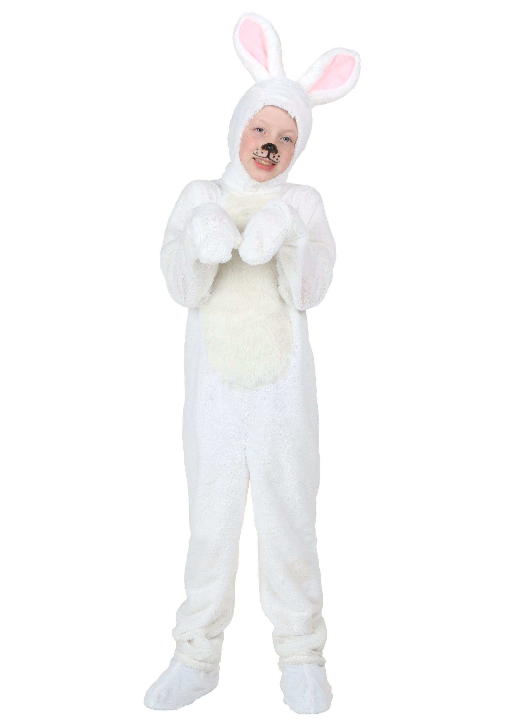 White Bunny Kids Costume