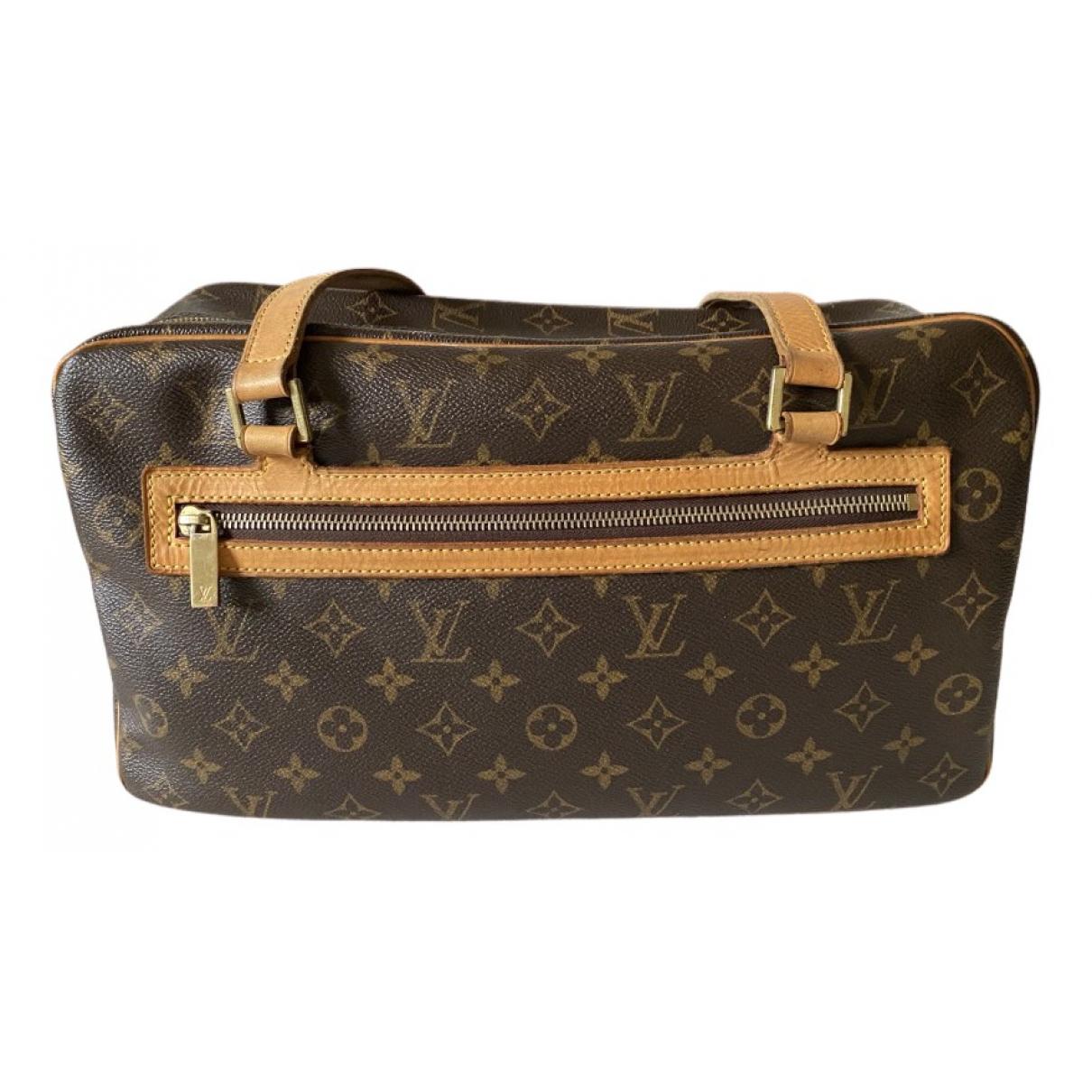 Louis Vuitton Cite  Handtasche in  Braun Leinen