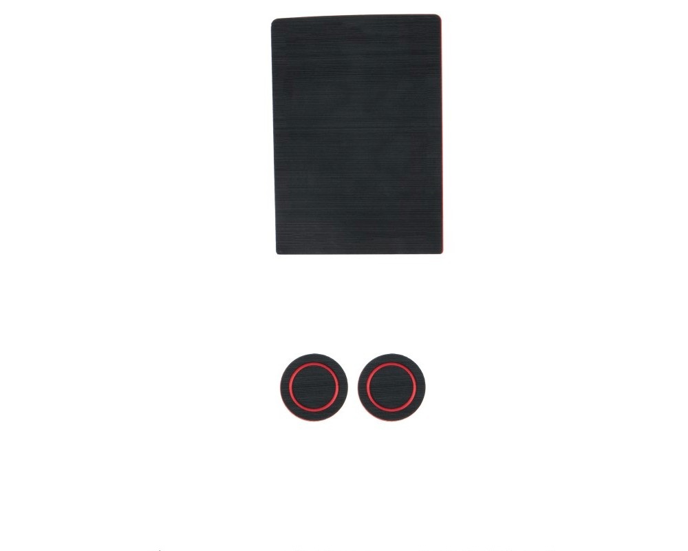 Tufskinz FRD015-FRD-X Interior Cup Holder Inserts Fits 2017-2020 Ford F-150 40/20/40 Split Seats W/O Center Dash Speaker 3 Piece Kit In Black/Red
