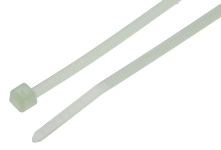 HellermannTyton , T18I Series Natural Nylon Cable Tie, 140mm x 2.5 mm
