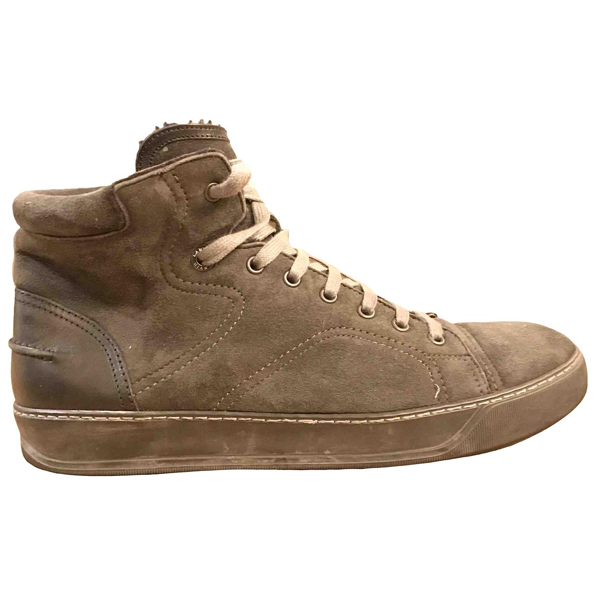 Lanvin \N Sneakers in  Anthrazit Veloursleder