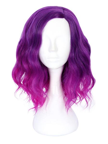 Milanoo Pelucas Sweet Lolita Royal Purple Ombre Fiber Lolita Accesorios