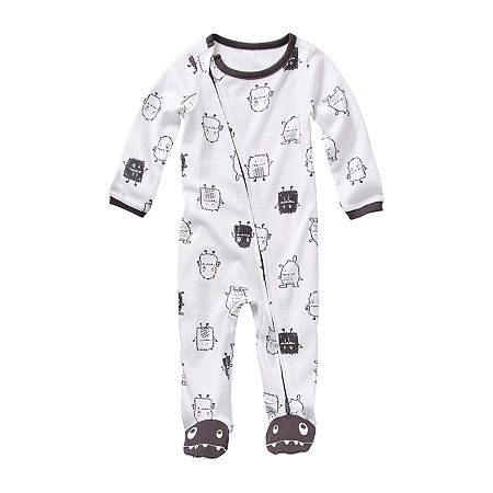 Okie Dokie Baby Boys Sleep and Play, 6 Months , White