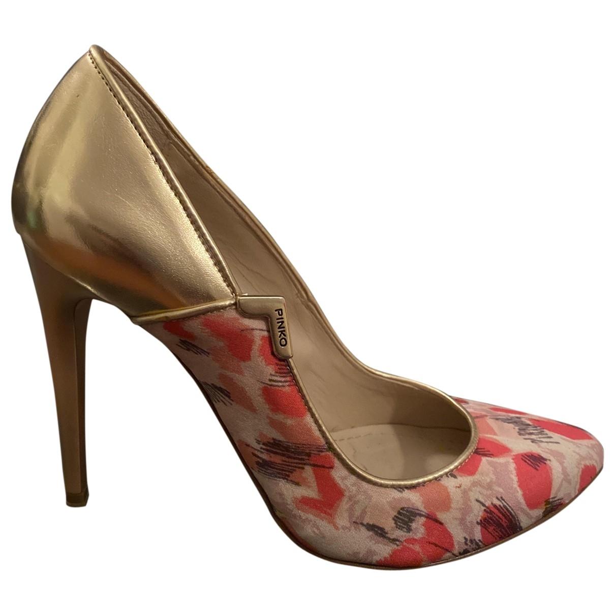Pinko - Escarpins   pour femme en cuir - rose