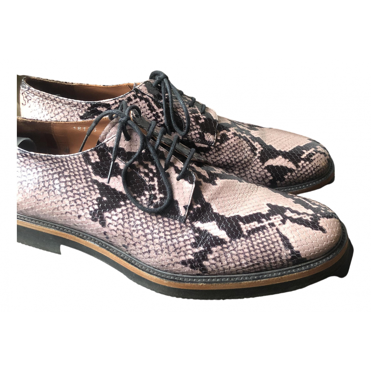 Dries Van Noten - Derbies   pour homme en cuir - beige