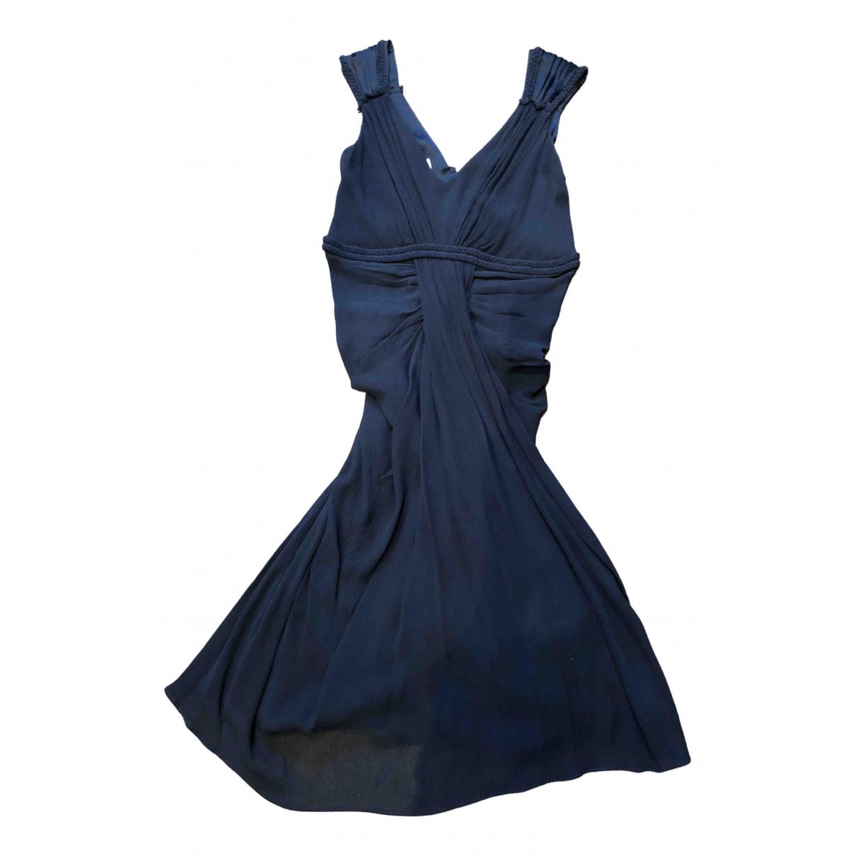 Ghost London - Robe   pour femme en soie - marine
