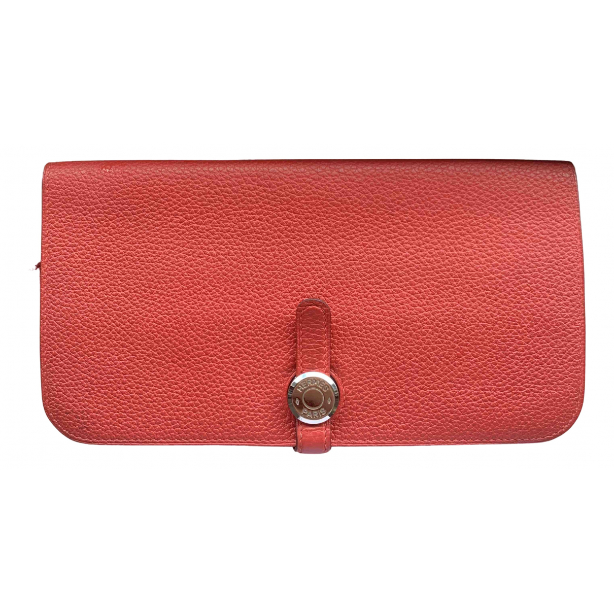 Hermes - Portefeuille Dogon pour femme en cuir - rose