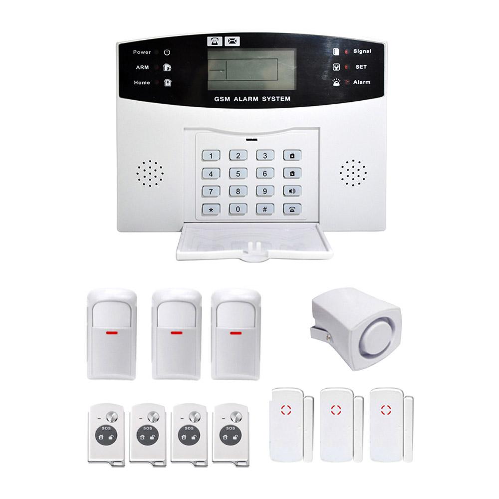 YA-500-GSM-25 LCD Wireless GSM Autodial SMS Home House Office Security Burglar Intruder Alarm