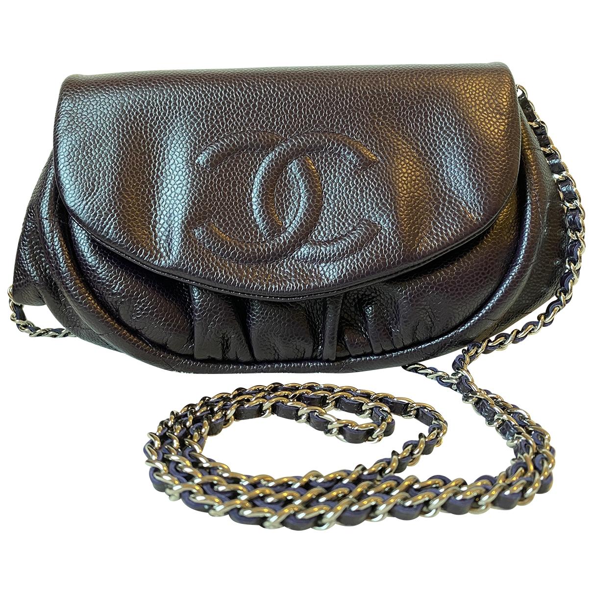 Chanel - Sac a main   pour femme en cuir - violet