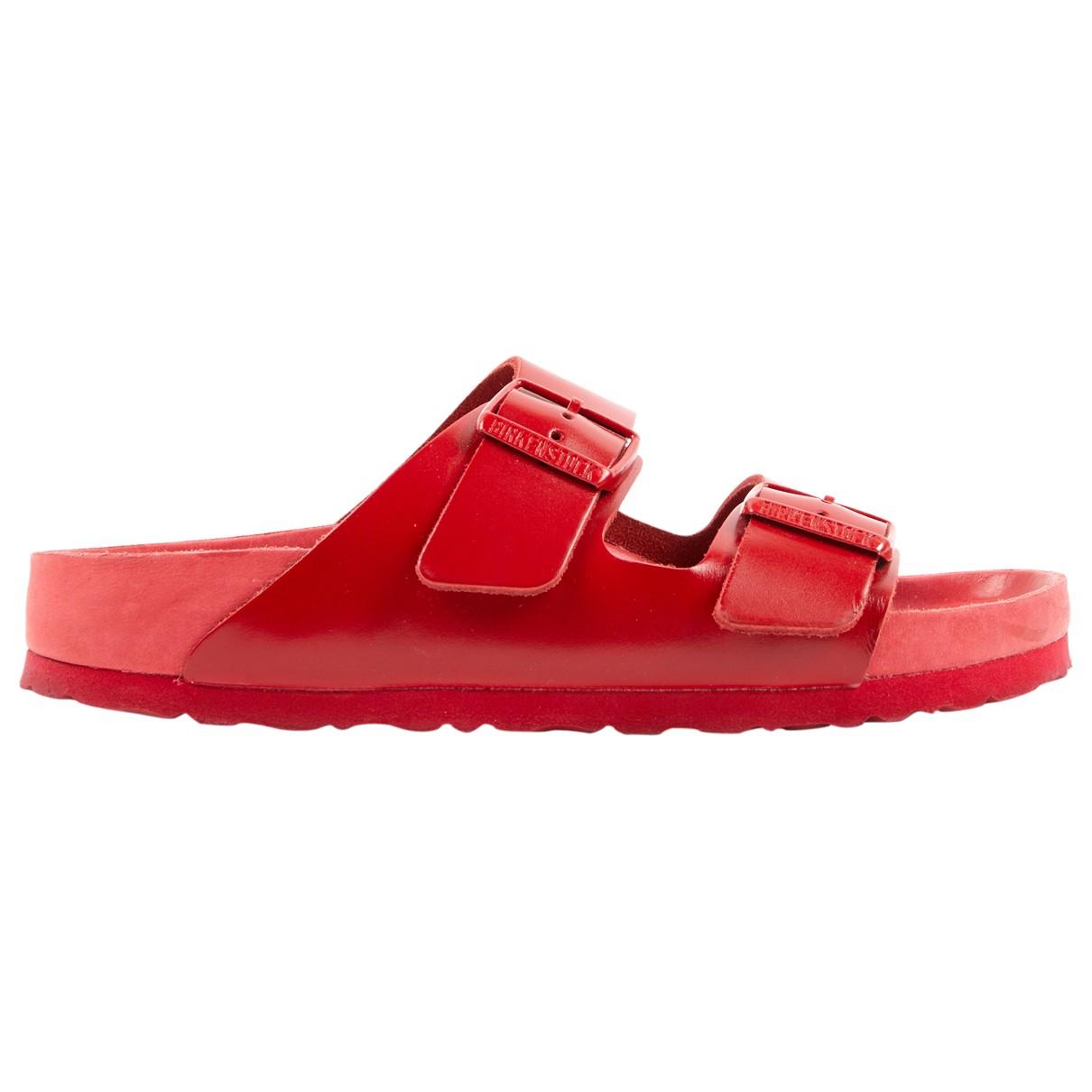 Valentino Garavani \N Red Leather Sandals for Women 38 EU