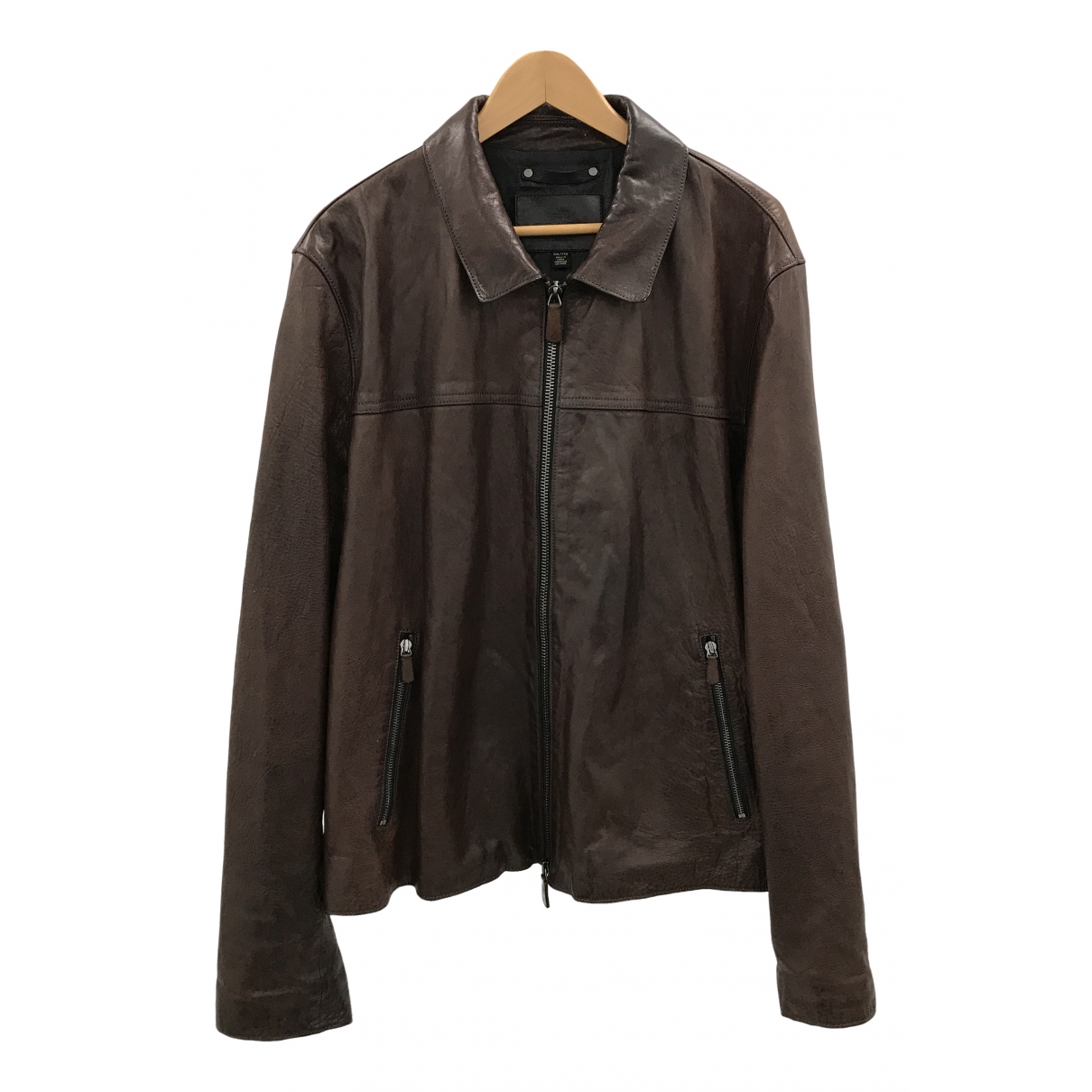 Coach \N Brown Leather jacket  for Men XXL International