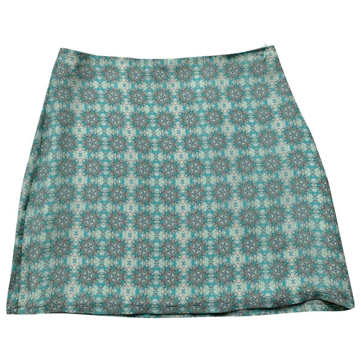 - Jupe   pour femme en soie - vert