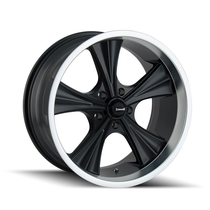 Ridler 651 Matte Black | Machined Lip 20x8.5 5x127 0mm 83.82mm Wheel