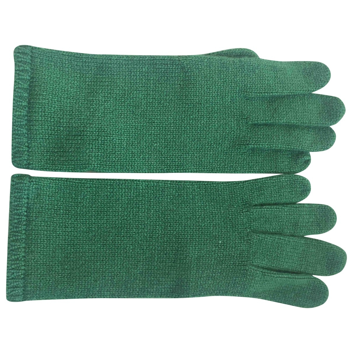 Non Signe / Unsigned \N Handschuhe in  Gruen Kaschmir