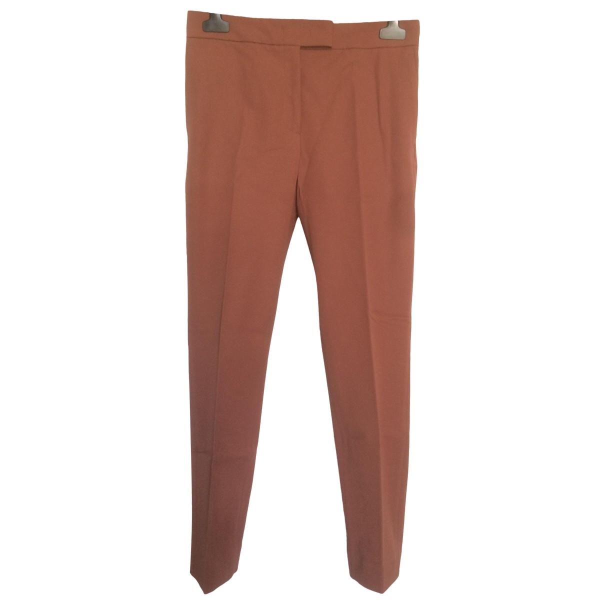 Joseph \N Orange Cotton Trousers for Women 34 FR
