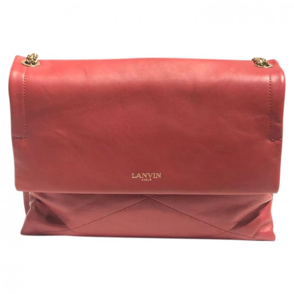 Lanvin Sugar Red Leather handbag for Women \N