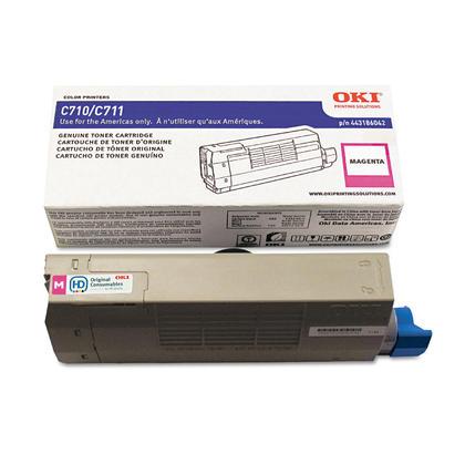 Okidata 44318602 cartouche de toner originale magenta pour l'imprimante C711