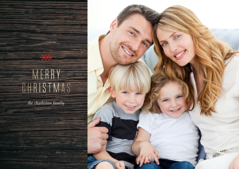 Christmas Photo Cards Flat Matte Photo Paper Cards with Envelopes, 5x7, Card & Stationery -Happy Pine Tree
