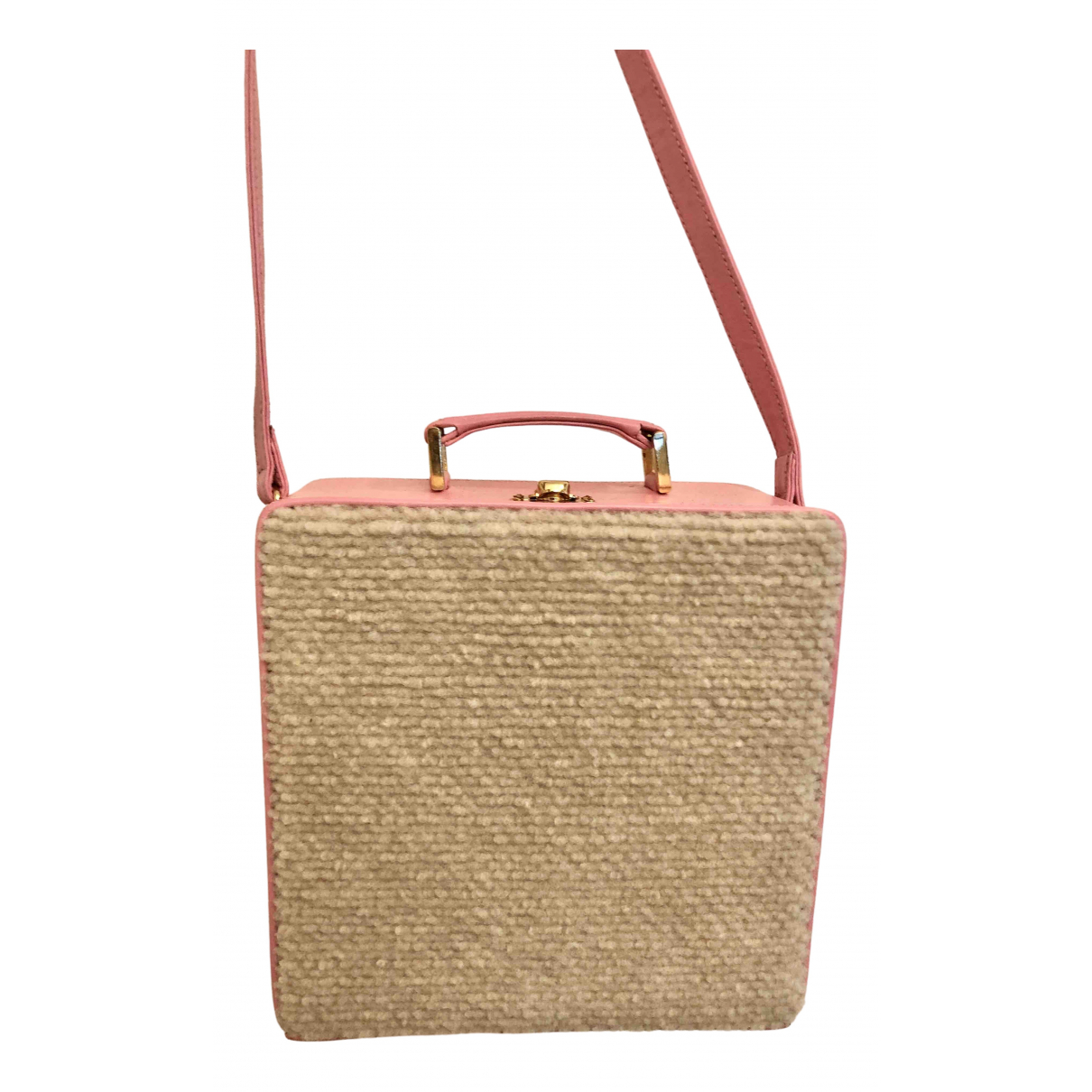 Olympia Le Tan \N Handtasche in  Rosa Wolle