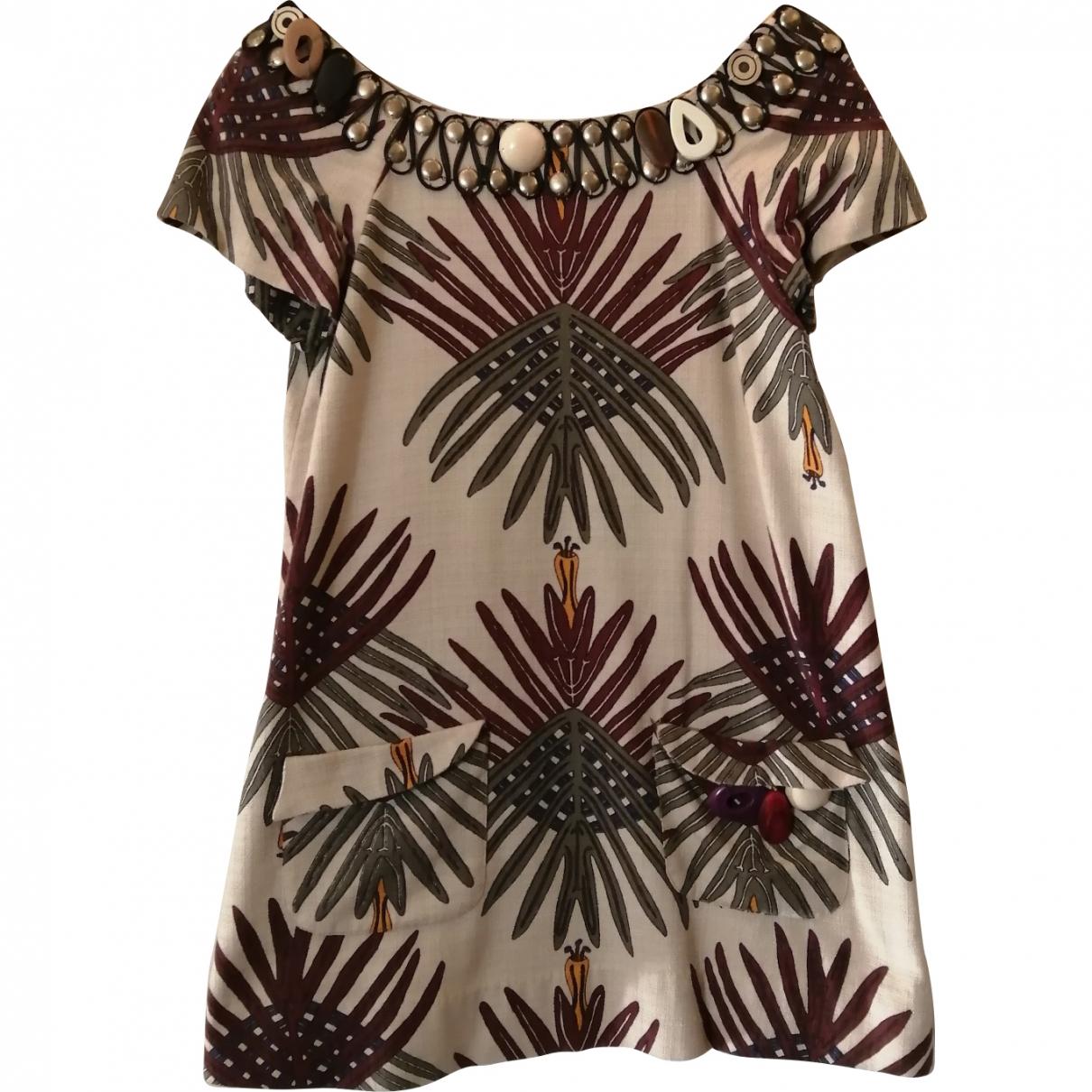 Hoss Intropia \N Ecru Cotton dress for Women 38 FR