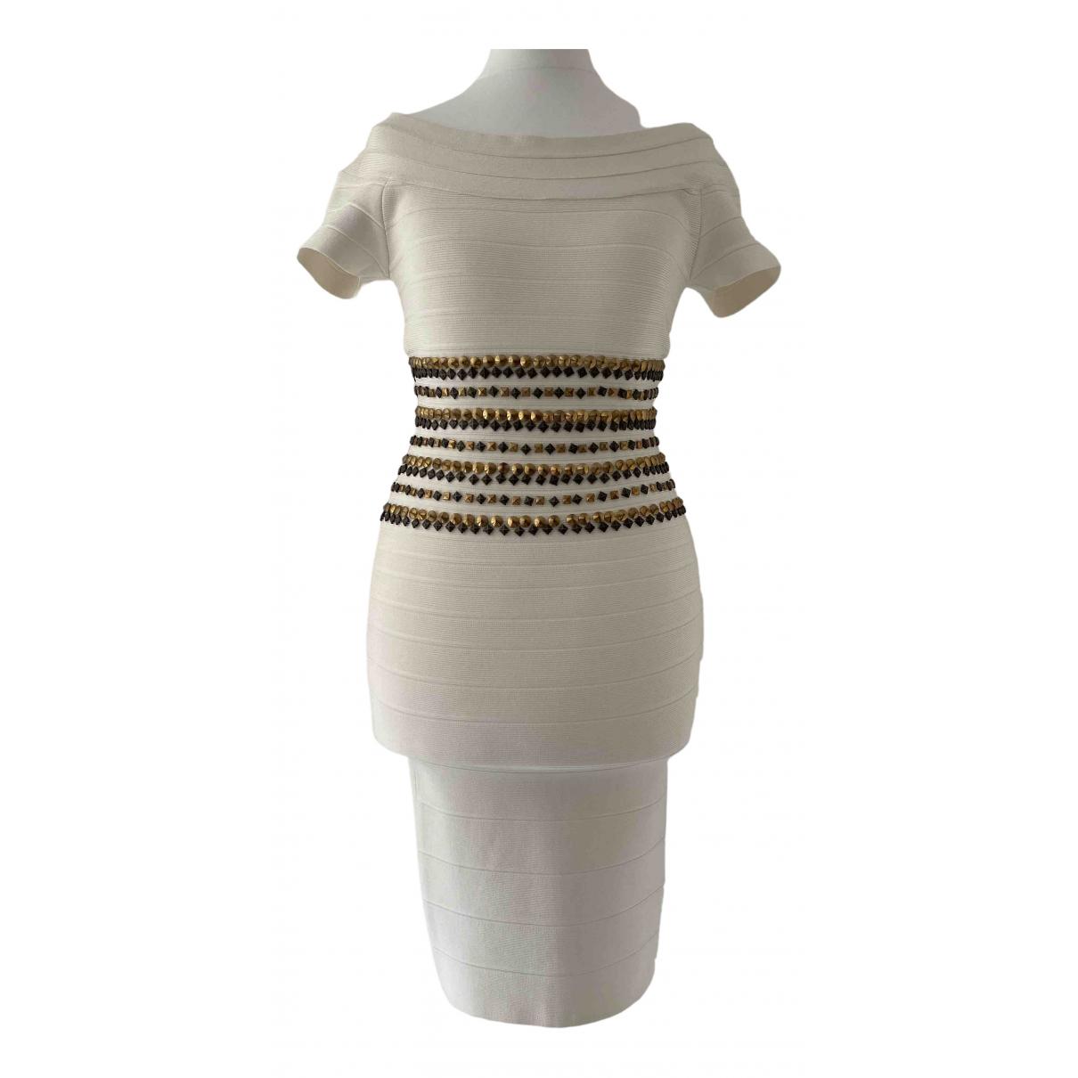 Herve Leger \N Kleid in Baumwolle - Elasthan