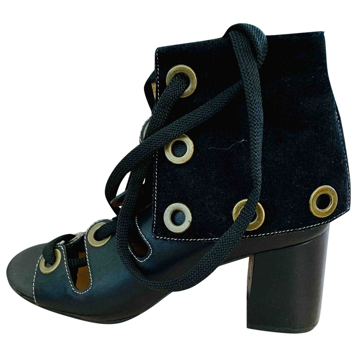 See By Chloé \N Black Leather Sandals for Women 40 EU
