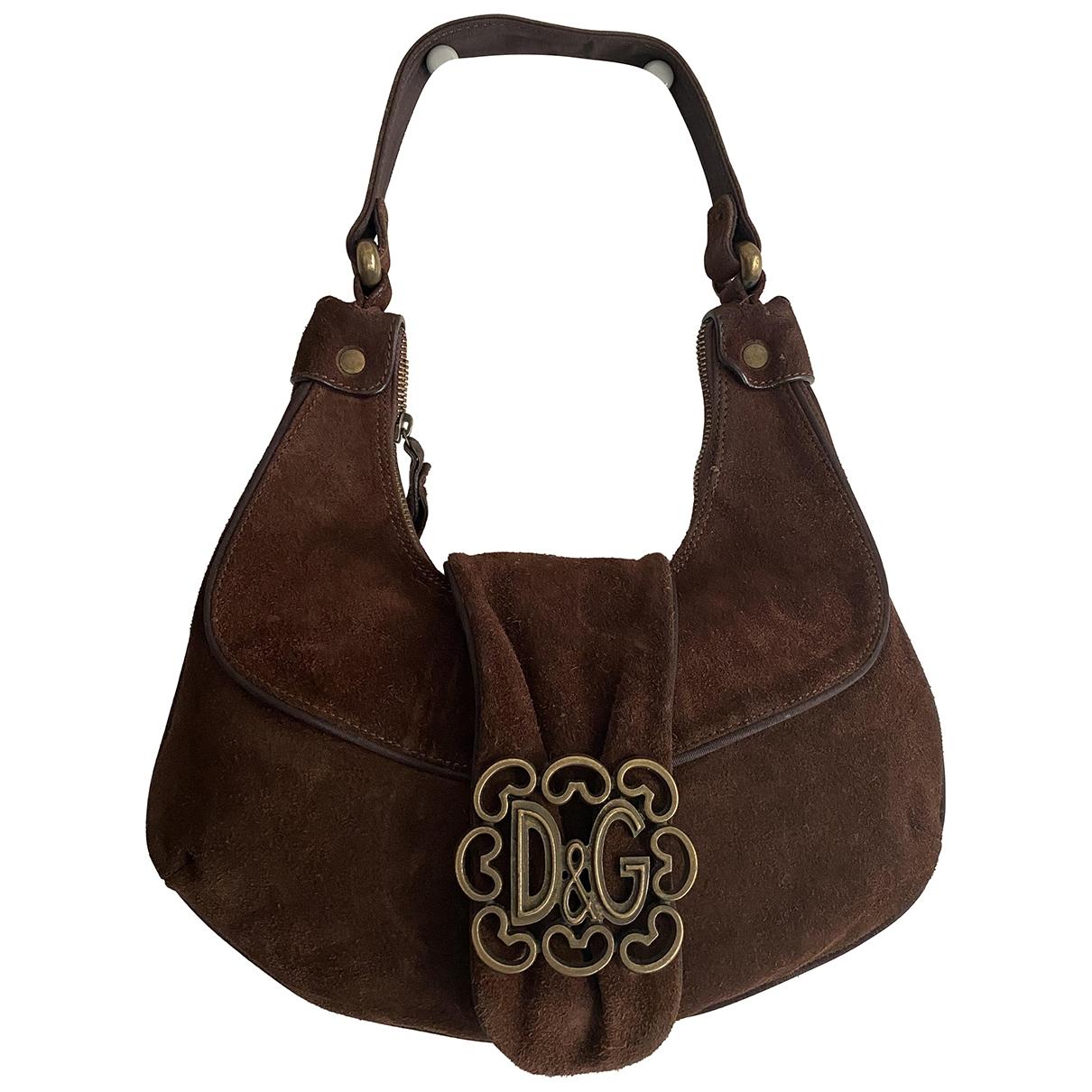 D&g \N Handtasche in  Braun Veloursleder