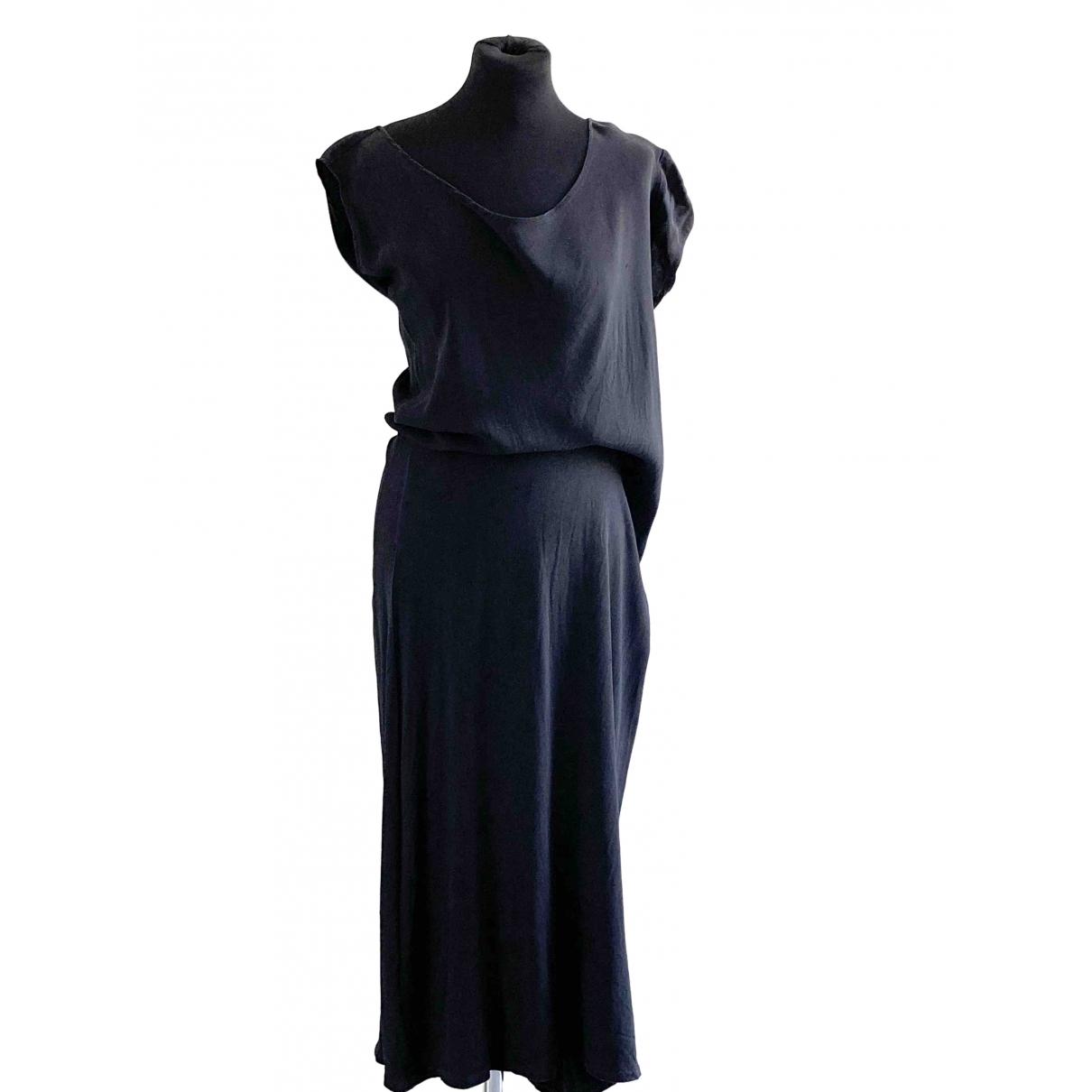 Ann Demeulemeester \N Kleid in  Anthrazit Seide