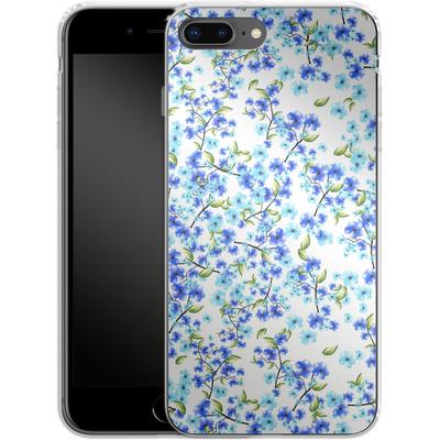 Apple iPhone 8 Plus Silikon Handyhuelle - Blue Blooms von Mukta Lata Barua