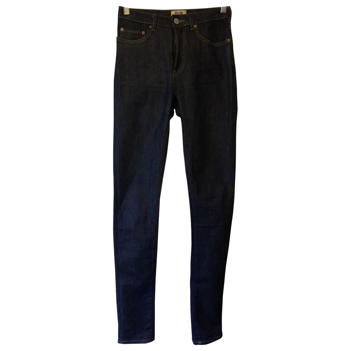 Acne Studios \N Navy Denim - Jeans Jeans for Women 36 FR