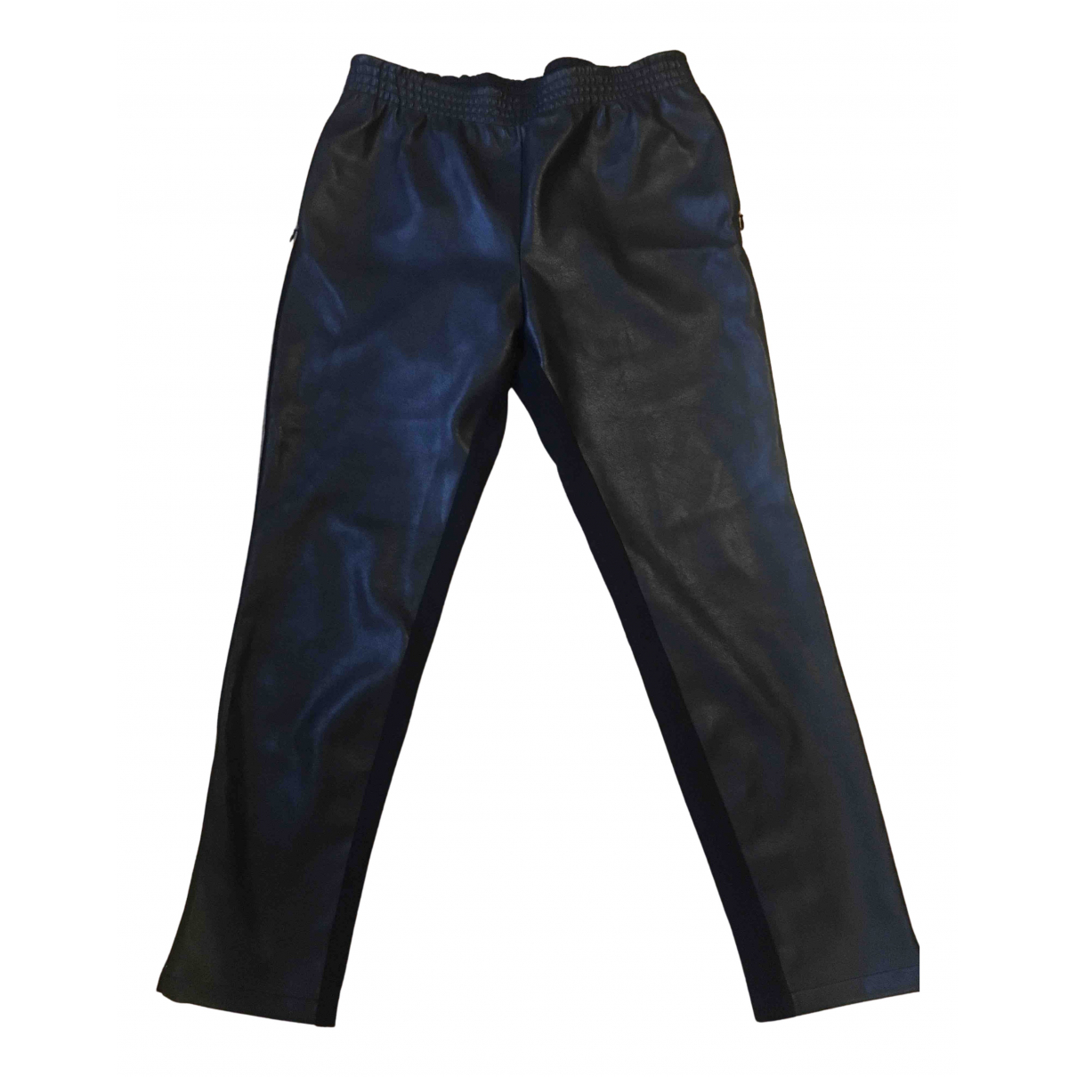 Wolford N Black Leather Trousers for Women M International