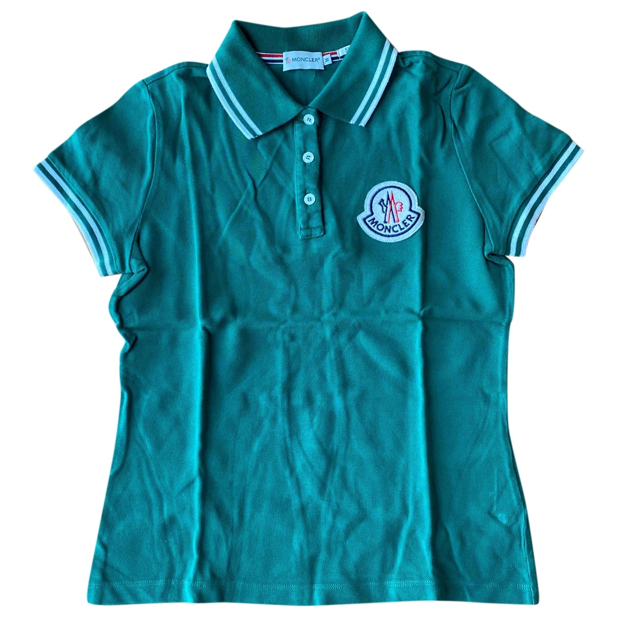 Moncler - Top   pour femme en coton - vert