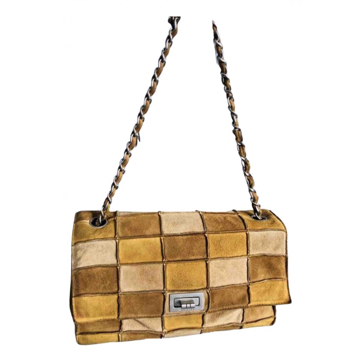 Chanel 2.55 Yellow Suede handbag for Women N