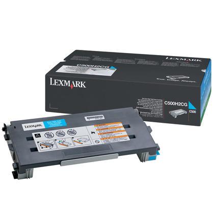 Lexmark C500H2CG Original Cyan Toner Cartridge High Yield for C500 X500 X502 Series Printers