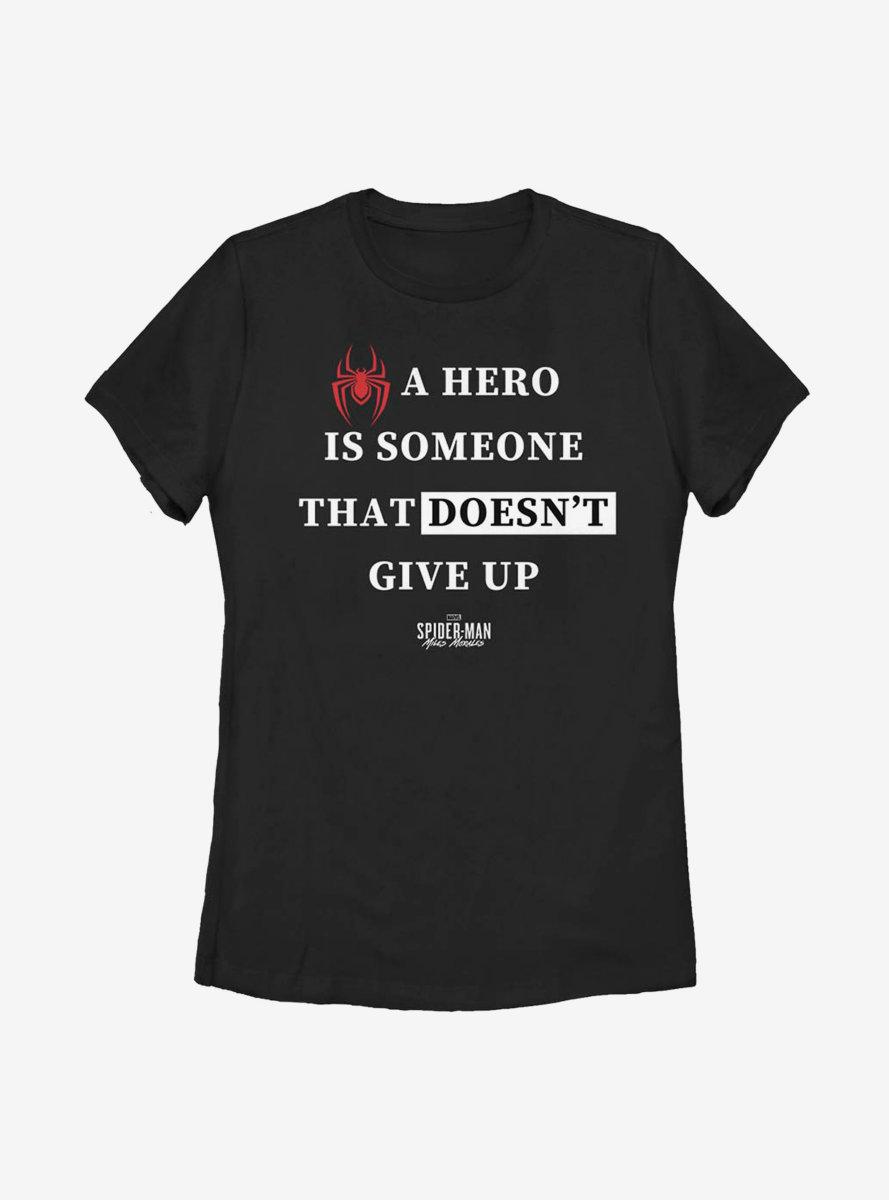 Marvel Spider-Man Hero Text Womens T-Shirt