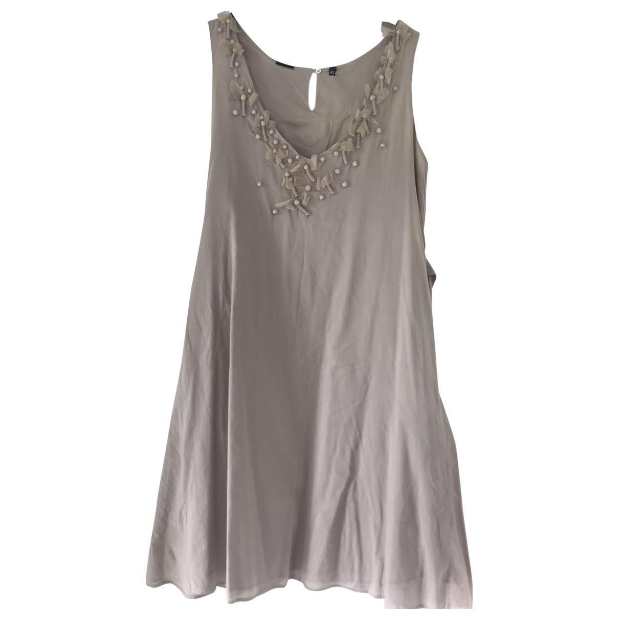 Aspesi \N Kleid in  Beige Baumwolle