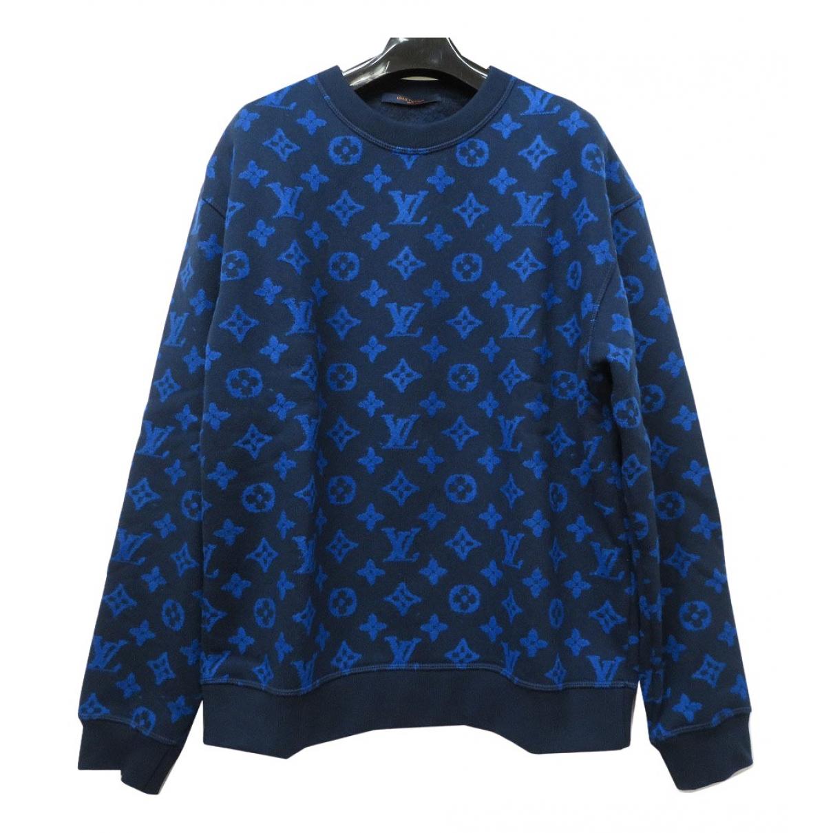 Louis Vuitton \N Pullover.Westen.Sweatshirts  in  Marine Baumwolle